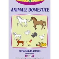 E-book-- Animale domestice - carticica de colorat