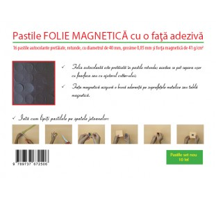 Pastile magnetice rotunde